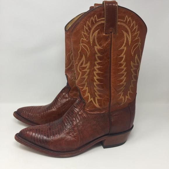4532c95fd47 Tony Lama Brown Western Cowboy Boots 10.5 D Men's